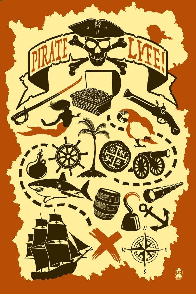 Pirateアイコン 36 x 54 Giclee Print LANT-54887-36x54 36 x 54 Giclee Print  B017E9VNZU