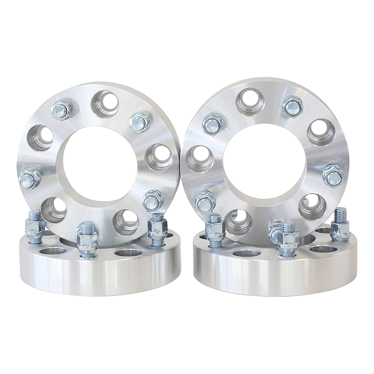 4 QTY Wheel Spacers Adapters 3' (1.5 inch Per Side) fits all 6x4.5 (6x114.3) vehicle to 6x4.5 wheel patterns with 1/2 - 20 threads Durango Dakota Wheel Spacer SmartPartsCo.com