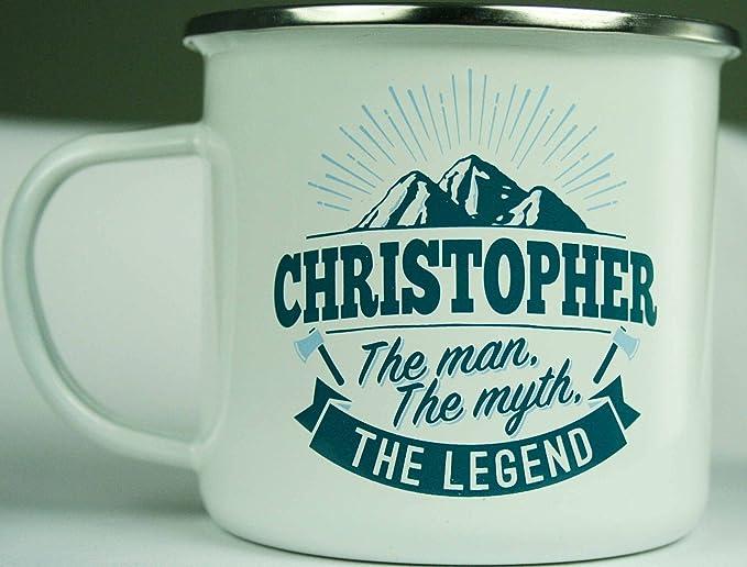 Top Guy tazas 01208000068 Christopher taza de café, vaso, acero al ...