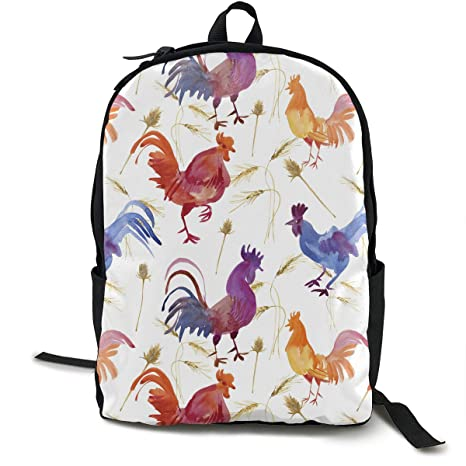 ea6bc965f135 TAOHJS89 Waterproof Cute Backpack for Boys Casual Print Travel Bag Women  Computer Backpack Multicolor Rooster Pattern