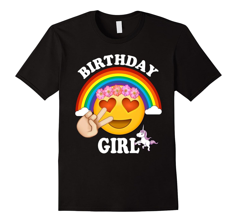 Emoji Birthday Shirt For Girls Unicorn Rainbow Cute-ah my shirt one gift