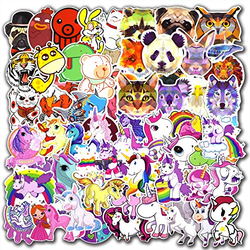 135 Pcs Unicorn and Animals Stickers for Laptop Car Luggage