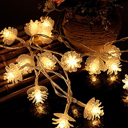 elementdigital battery pinecone string lights christmas party led light string pine nuts decoration fairy lights for