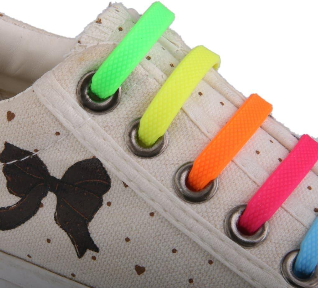 lot de 12/pcs 5/cinq de bracelet /élastique en silicone pour chaussures pour enfant