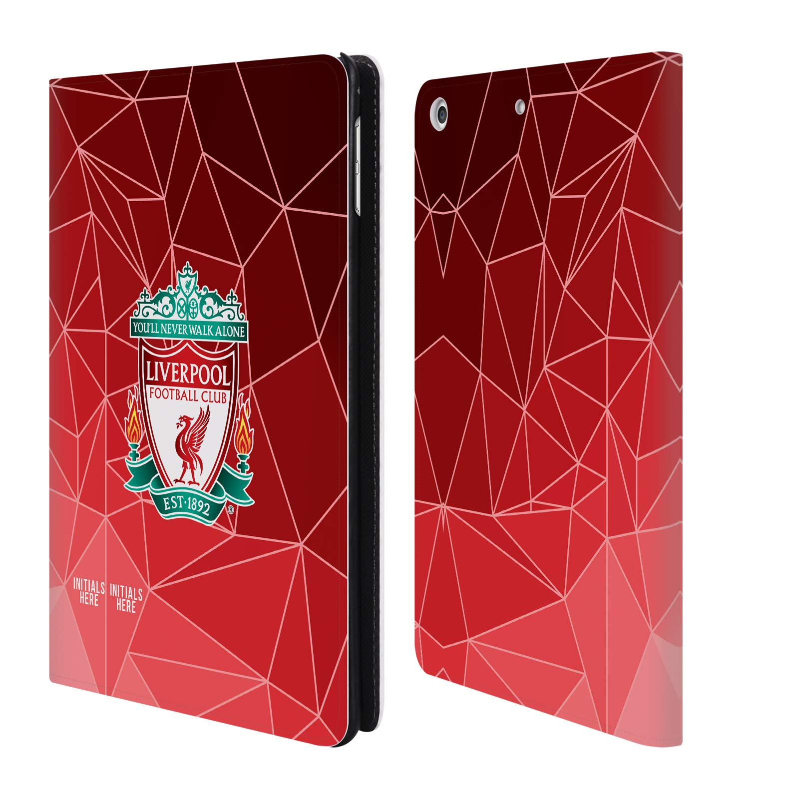 Custom Customized Personalized Liverpool Football Club Geometric 2018/19 PU Leather Book Wallet Case Cover for iPad Mini 4