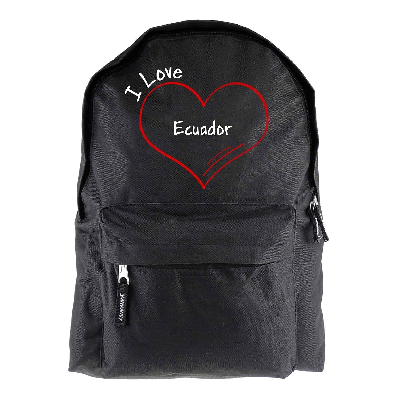Mochila Modern I Love Ecuador, Negro: Amazon.es: Equipaje