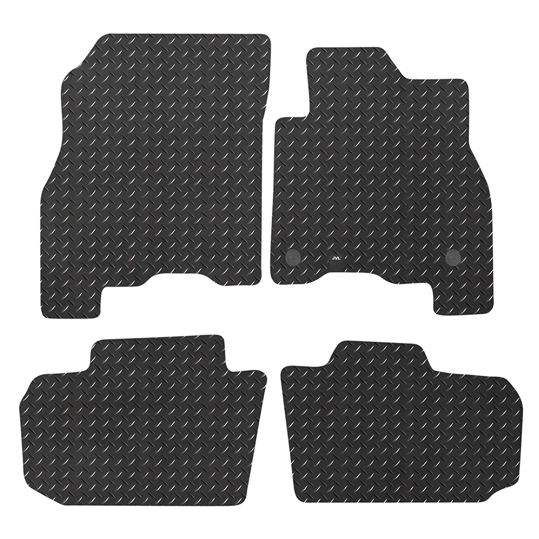 JVL Fully Tailored Rubber Car Mat Set for Leaf MK2 2018-On Black