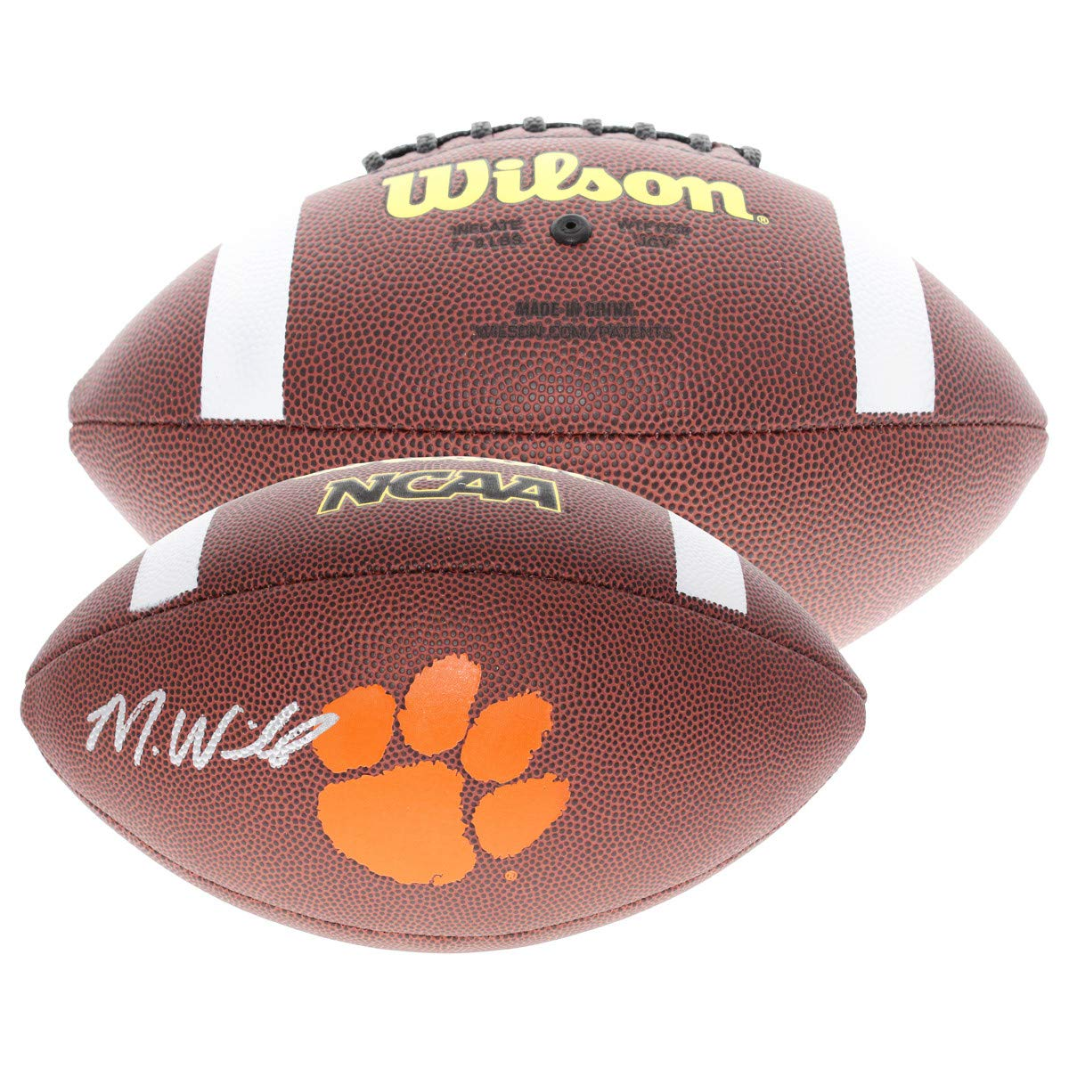 Mike Williams Autographed Signed Clemson Tigers Wilson Logo Football - Beckett Authentic