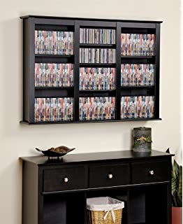 Prepac Triple Wall Mounted Storage Cabinet, Black