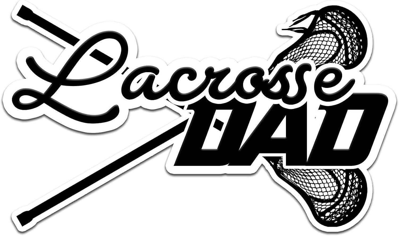 """Decal Serpent Lacrosse Dad Color Vinyl Sports Car Laptop Sticker - 6"""""""
