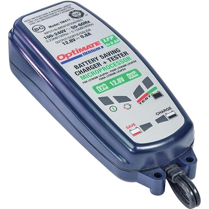 Amazon.com: TecMate Optimate Cargador de batería de litio ...