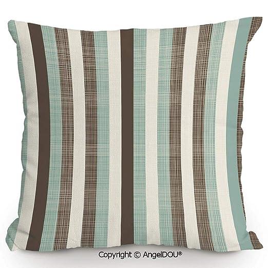 AngelDOU - Cojín Cuadrado de Lino y algodón con diseño de ...