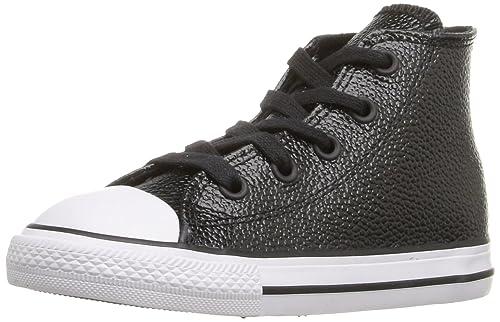 Converse Niños Zapatillas Chuck Taylor All Star Hi Black/White/Bla 353345C: Amazon.es: Zapatos y complementos