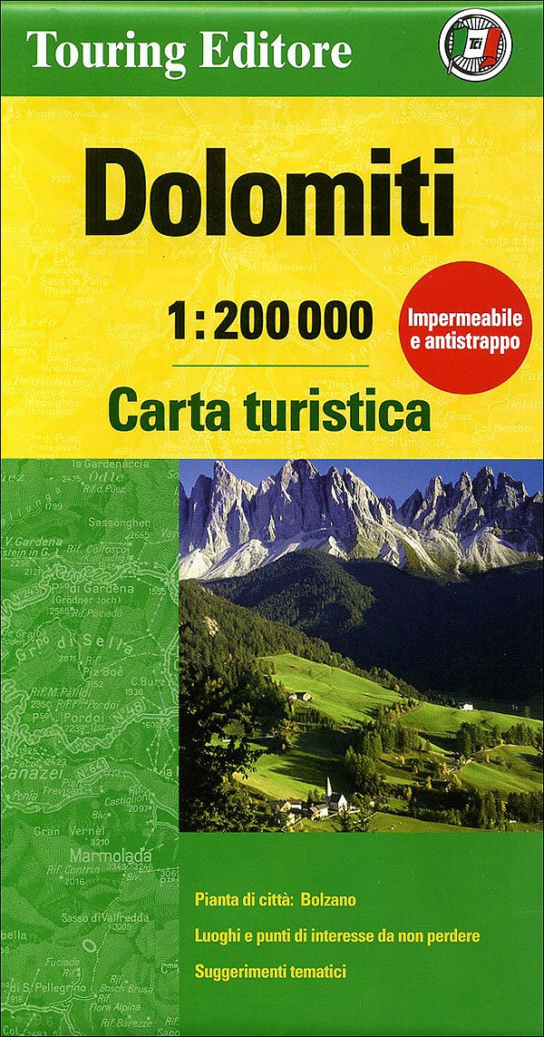 Dolomites, Tourist Map & Guide (English and Italian Edition ... on