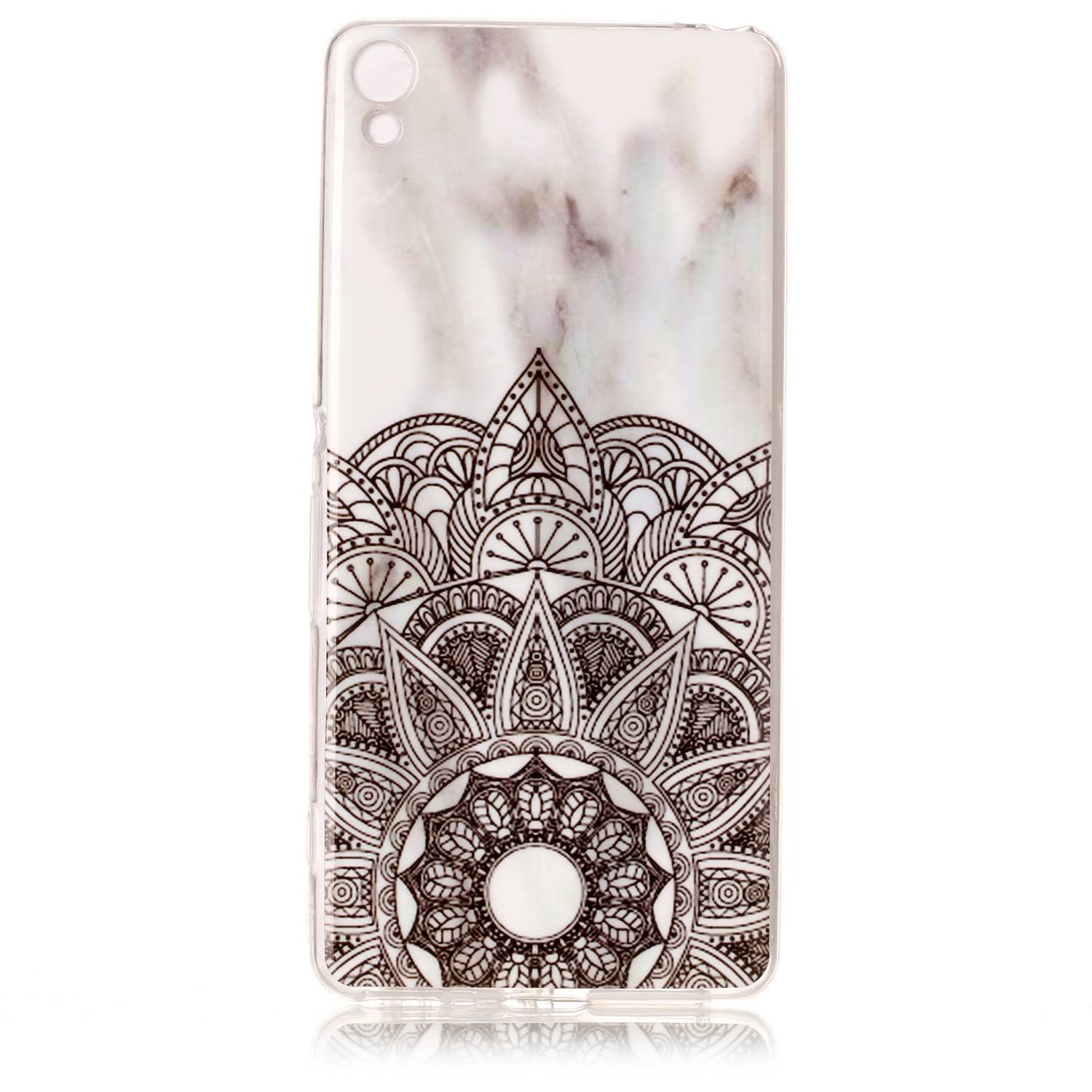 NEXCURIO Sony Xperia XA Case Marble Soft Silicone Shockproof Scratch Resistant Protective Cover for Sony Xperia XA - YHU102332 #1