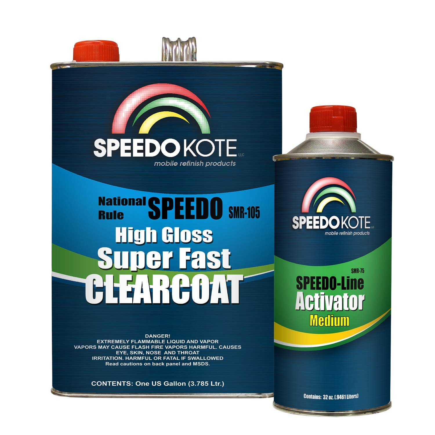 Speedokote Mobile Refinish Clear Coat High Gloss Super Fast Clearcoat Gallon Kit SMR-105/75 by Speedokote