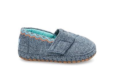 8ee561d27 TOMS Kids' Crib Alpargata - K, Blue Chambray, 4 M US Infant