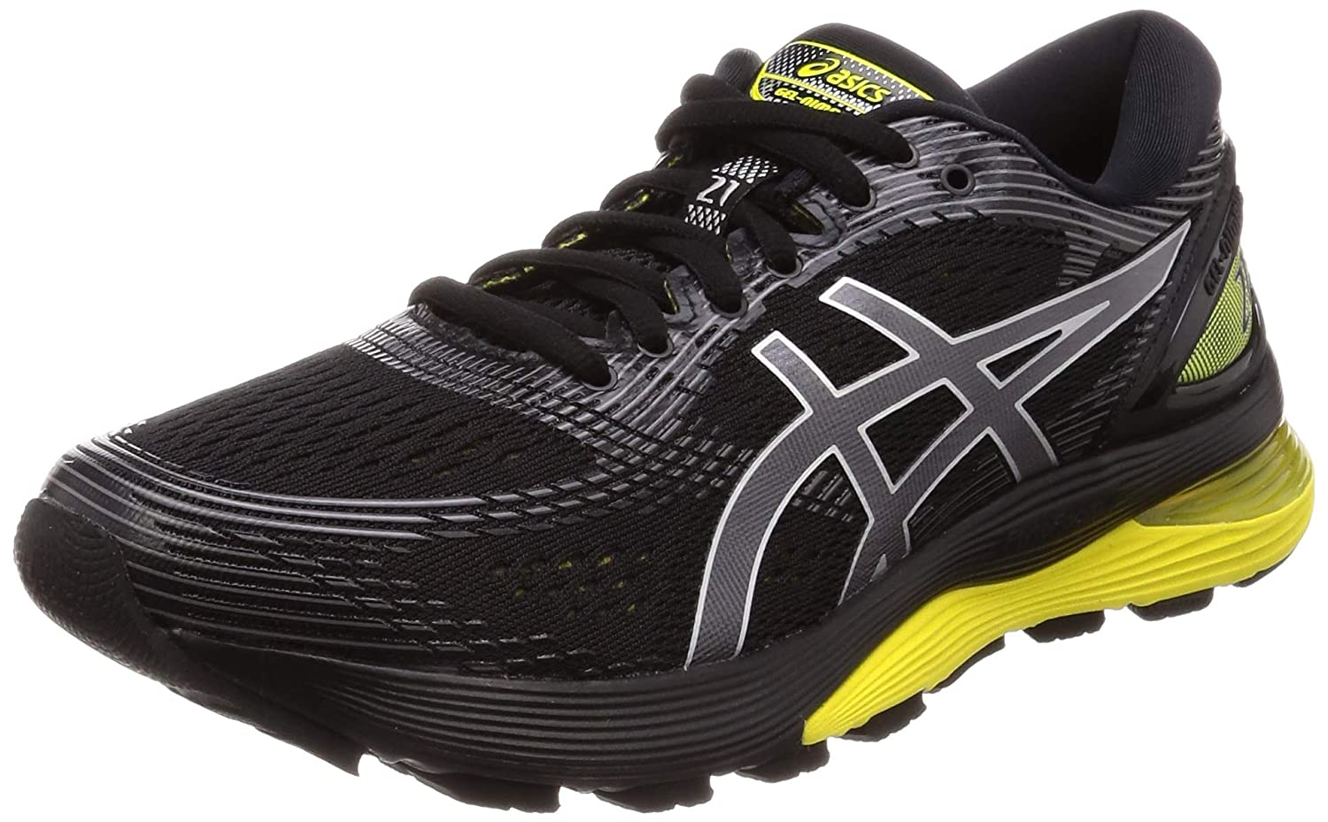 58ca78bbcb6 Amazon.com | ASICS Men's Gel-Nimbus 21 Running Shoe Black/Lemon Spark 10.5 M  US | Shoes