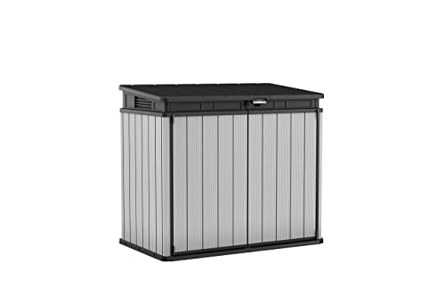 Keter Store It Out Premier XL Outdoor Plastic Garden Storage Shed, Grey and Black, 140 x 82 x 124 cm