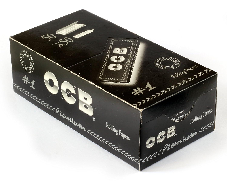 Papel de Fumar OCB Premium - Marca Número 1 - 50 Librillos - Distribuido por MakBros