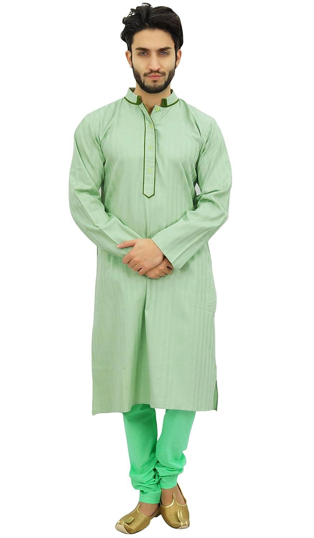 Atasi Kurta-Pyjama-Set Lange Baumwolltunika Shirt Männer Ethnische Wear