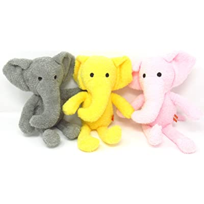 EC Outlets Stuffed Elephant Plush Animal Toy Soft Stuffed Animal Gifts, 3 Packs: Toys & Games