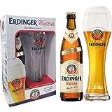 Kit Cerveja Erdinger Garrafa - 1 Erdinger Weissbier 500ml + 1 Copo Erdinger 500ml