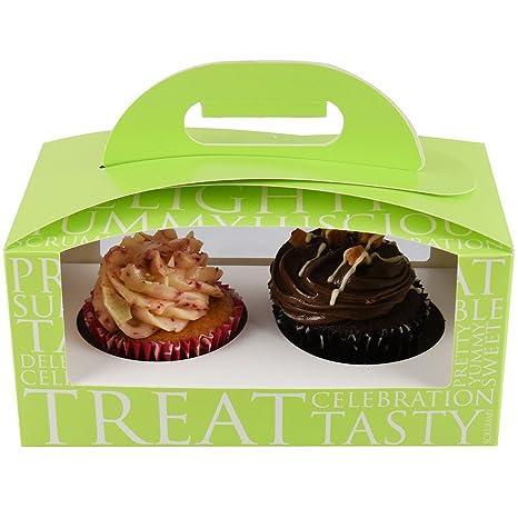 Pantalla profesional de Cupcake/cajas de embalaje de acetato transparente Windows extraíble doble para tartas