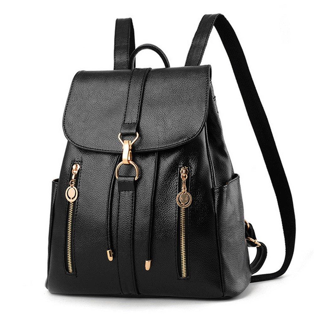 low-cost SJMMBB Shoulder bag women's large capacity backpack leisure travel bag,black,33X30X14CM