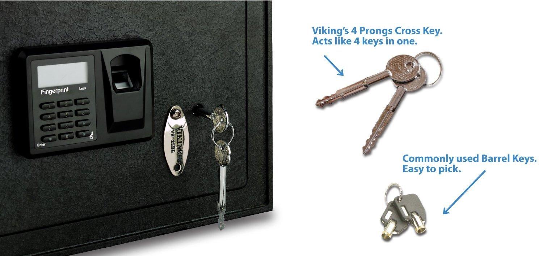 Viking Seguridad Seguro vs-50blx fingerpirnt biométrica Safe: Amazon.es: Bricolaje y herramientas