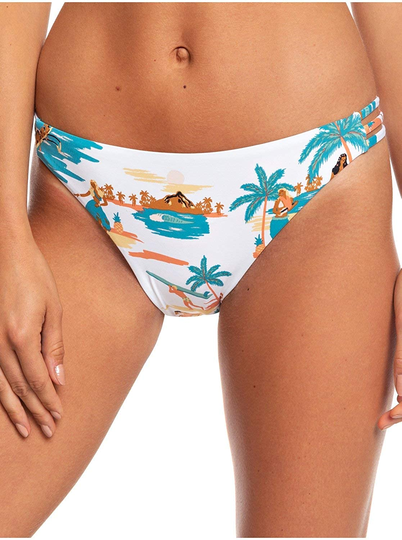 Roxy Womens Printed Beach Classics Regular Bikini Bottom