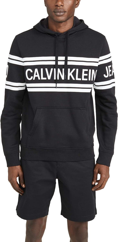 Calvin Klein Men's Fleece Hoodie Logo Pop Over Sweatshirt