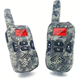 iCore Walkie Talkies for Kids Rechargeable, Toys Long Range Talkie 2 Way Radios (Pair), Discovery Childrens 22 Channel Walky Talky Built in Flash Light Girls Boys (Camouflage)