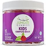 Jungle Gummies | Kids Multivitamin | Natural Health Supplement with Vitamin B12, Folic Acid, Biotin and Vitamin D | Fun Gummy Bear Shapes! | Gelatin Free, Non-GMO, Gluten Free, Allergen Free | 60 Gumm