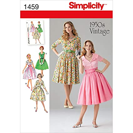 Amazon Simplicity Creative Patterns 40 Misses' And Miss Cool Vintage Dress Patterns 1950s