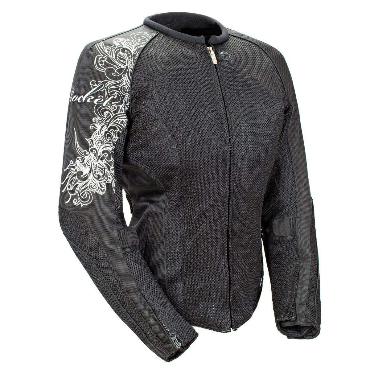 Joe Rocket 'Cleo 2.2' Womens Black Mesh Motorcycle Jacket - Medium