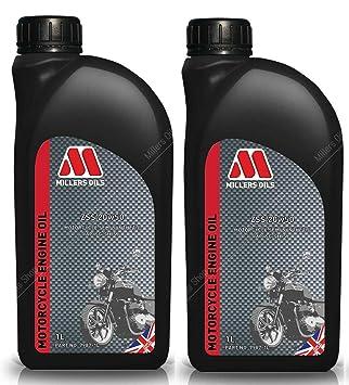 Millers Oils ZSS 4T 20W50 Aceite semisintético para Motor de Motocicleta, 2 litros