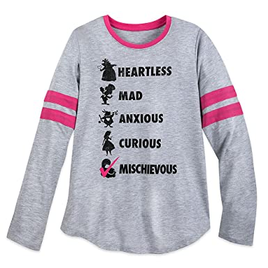 0af4c17889c69 Disney Alice In Wonderland Long Sleeve T-Shirt For Women Size Ladies XS Gray