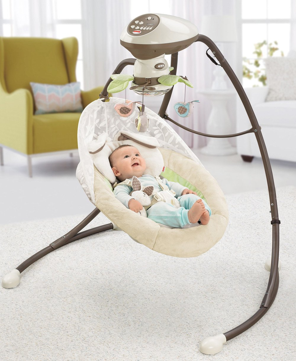 Baby bed that connects to parents bed - Amazon Com Fisher Price Snugabunny Cradle N Swing With Smart Swing Technology Baby