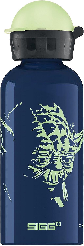 Sigg Star Wars Yoda, Botella para niñ os, 0.4 L, a Prueba de Fugas, sin BPA, Aluminio, Azul Botella para niños SIGJU|#Sigg 8619.00
