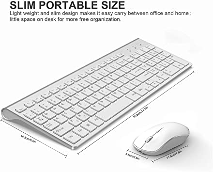Color : B Office Typing Game Ultra-Thin Keyboard Mouse Full Size Keyboard USB Receiver YXNN Wireless Keyboard /& Mouse Sets