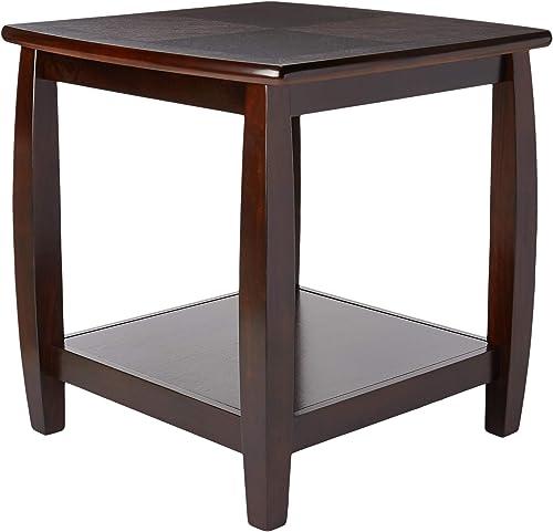 Marina End Table with Bottom Shelf Cappuccino