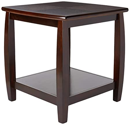 Marina End Table with Bottom Shelf Cappuccino