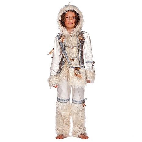 Unbekannt Traje de niño Eskimo Anuk Deluxe Blanco Inuit ...