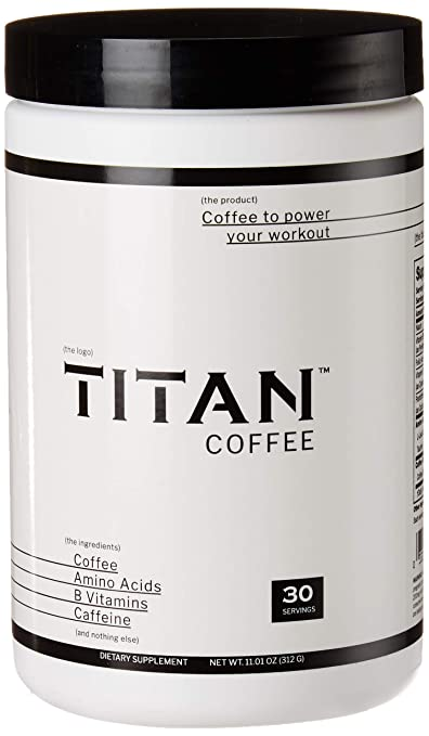 Titan Coffee, All Natural Coffee Pre-Workout for Men and Women, Only 4 Simple Ingredients, No Added Colors, Flavors, or Sweeteners - 30 Servings best pre-workout supplement