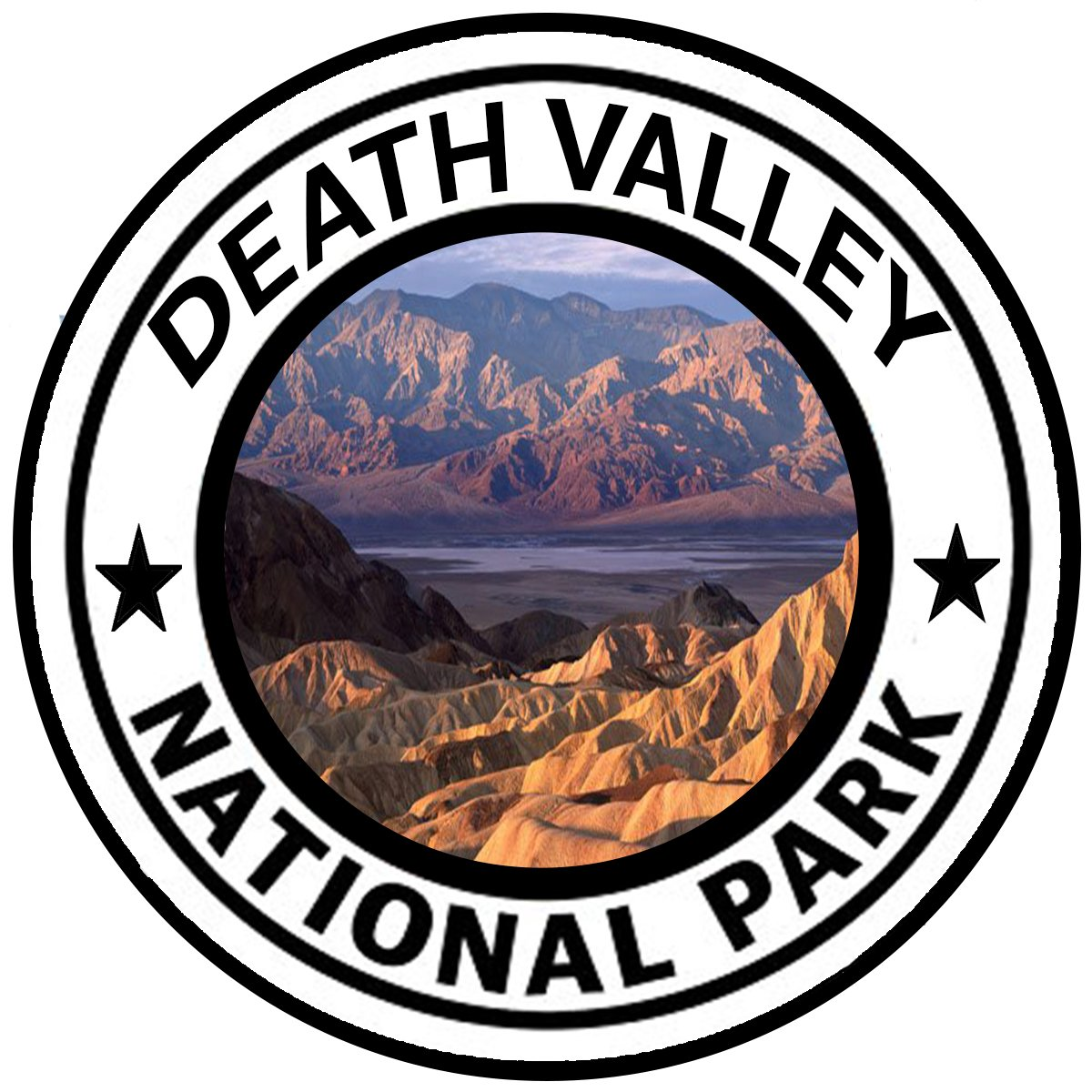 Rogue River Tactical Death Valley National Park Sticker 5 Round Car Auto Decal Mojave Desert California
