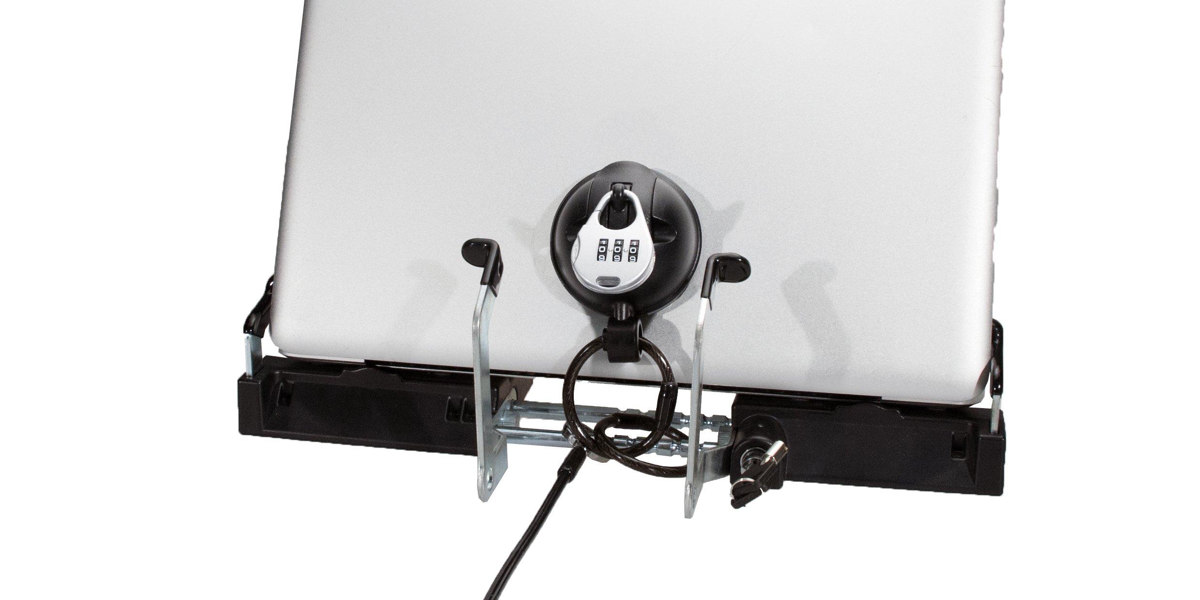 CTA Digital Heavy Duty Tri-Security Station for Tablet-Laptop Hybrids - PAD-SSLT by CTA Digital (Image #4)