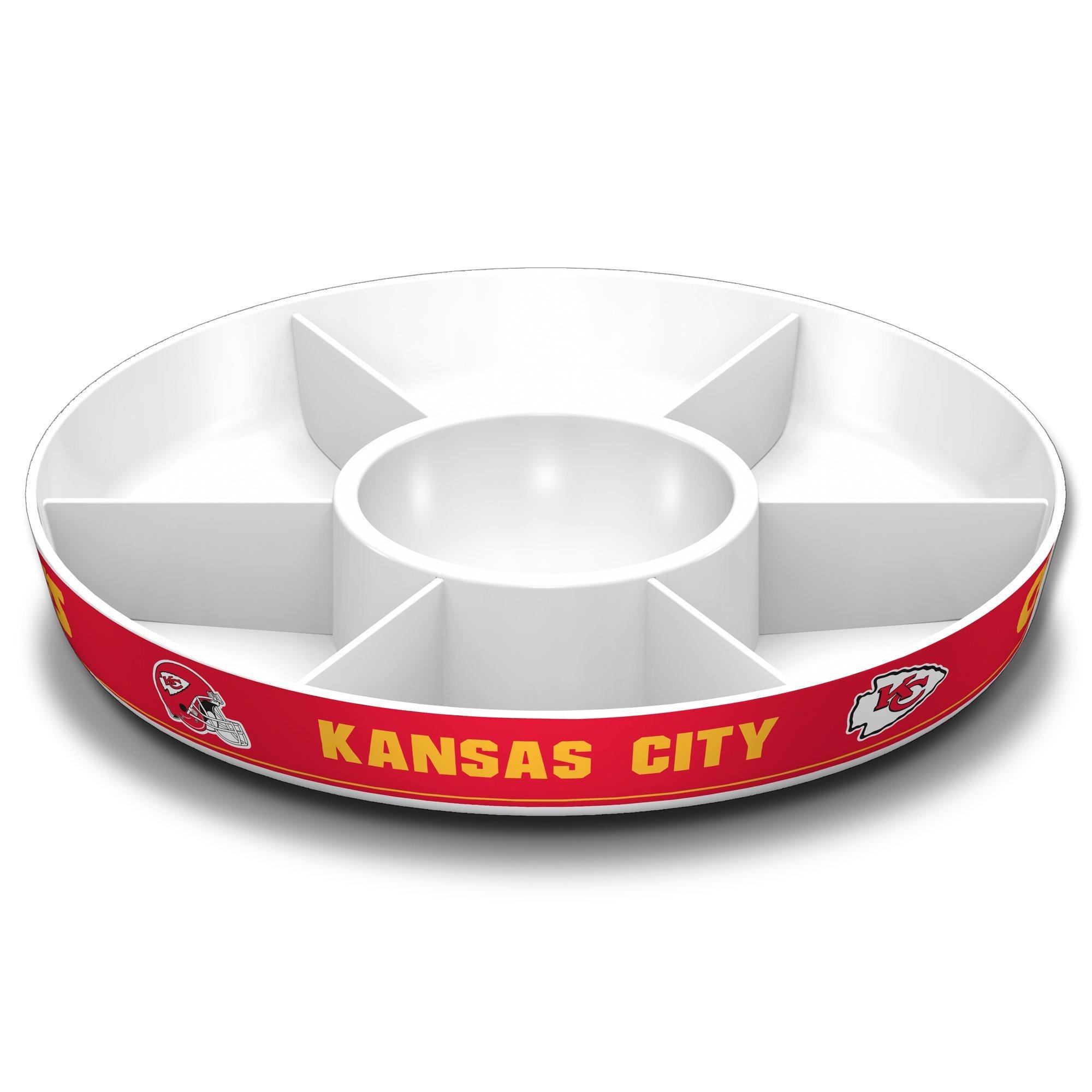 Fremont Die NFL Kansas City Chiefs Party Platter, White