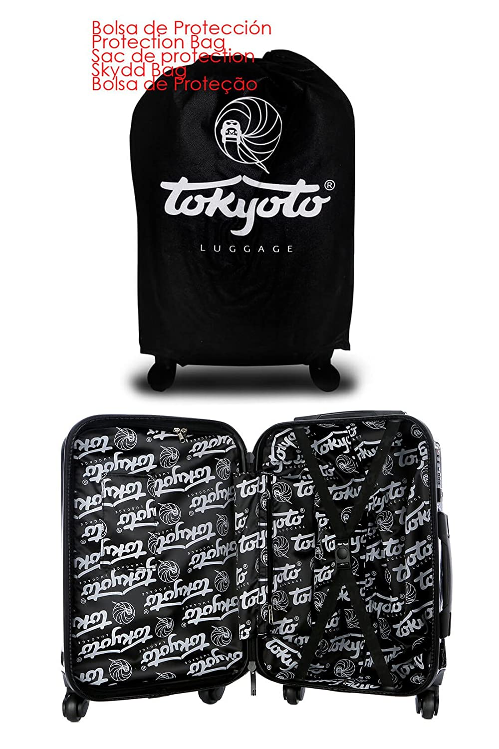 Amazon.com | TOKYOTO Luggage Carry-on Trolley Cabin Suitcase Travel Bag - BLACK EMPIRE (ONLY TROLLEY) | Carry-Ons