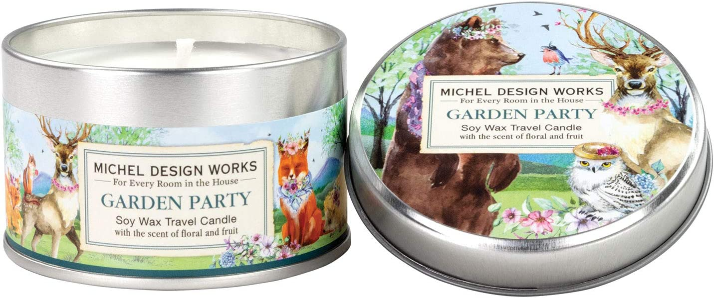 Michel Design Works Soy Wax Candle in Travel Tin Size, Garden Party